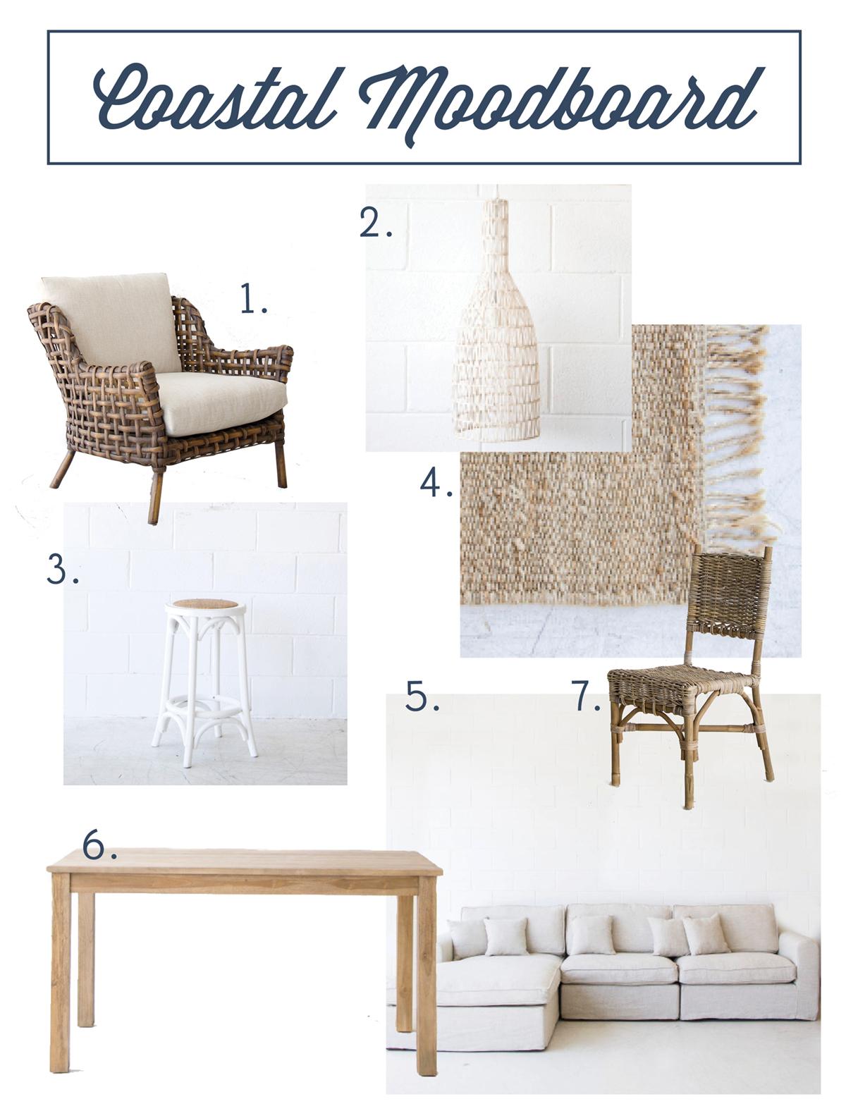 Coastal style beach house furniture for Coastal furniture
