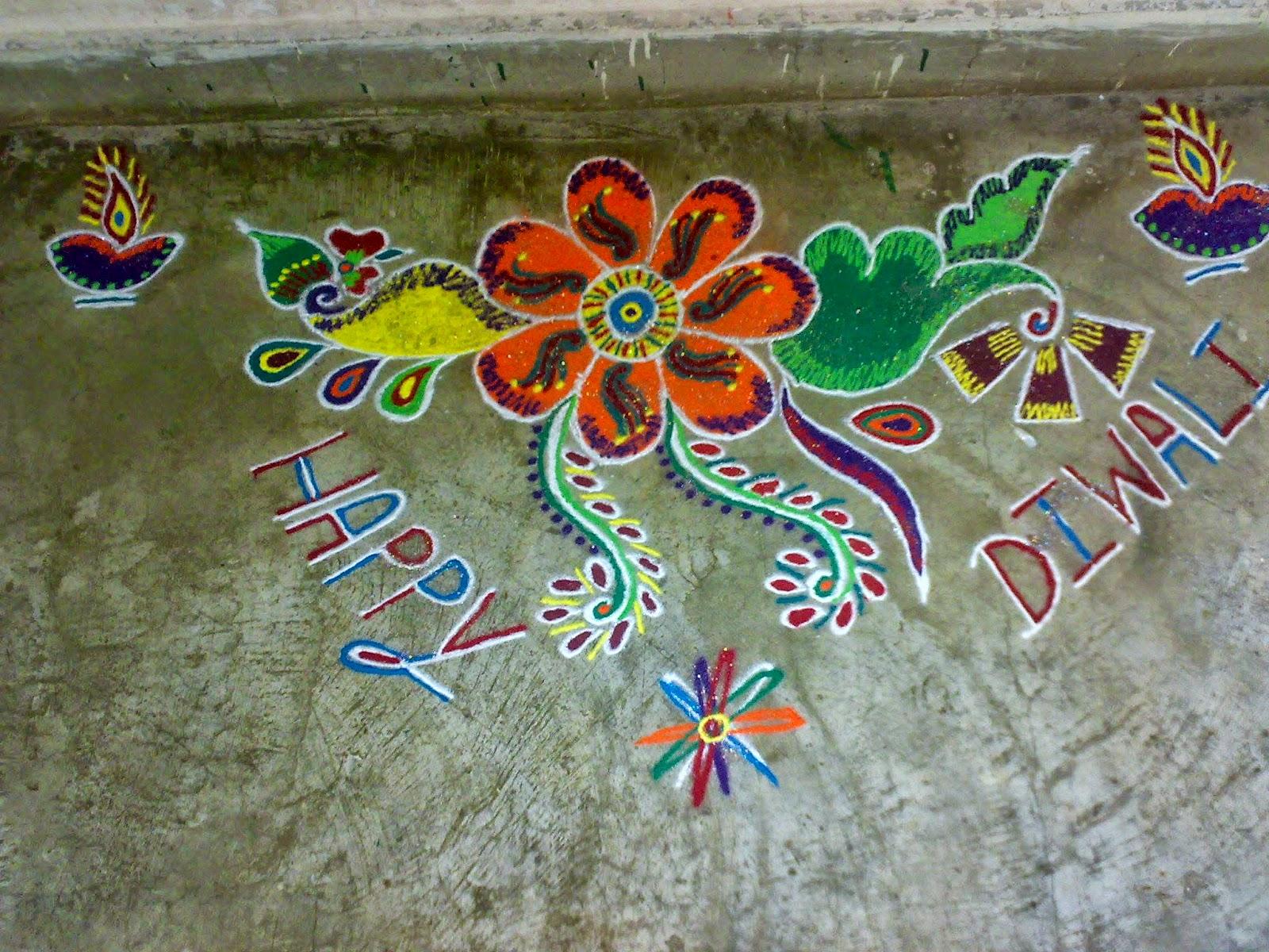 Muggu for Diwali 3