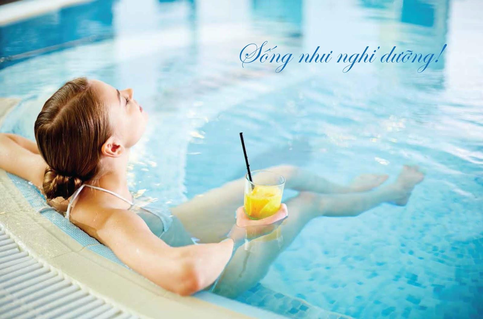 Bể bơi tại chung cư Phú Mỹ Complex N01T4 Ngoại Giao Đoàn