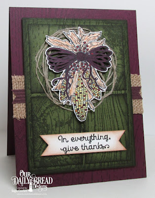 ODBD A-Maize-ing, ODBD Wood Background, ODBD Custom Indian Corn Die, ODBD Custom Rectangles Dies, Card Designer Angie Crockett
