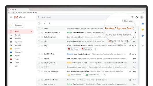 Gmail will now remind you to respond