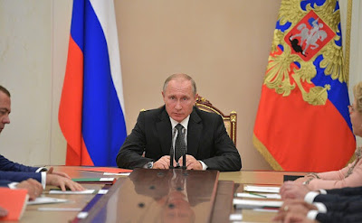 Vladimir Putin at a meeting with permanent members of Security Council.