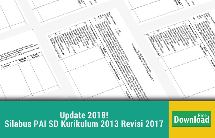 Update Jumat 26 Januari 2018 Silabus PAI SD Kurikulum 2013 Revisi 2017