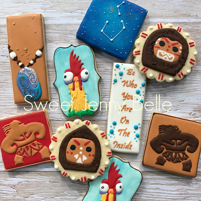 disney's moana decorated cookies