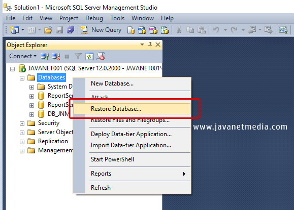 Cara Backup dan Restore Database SQL Server