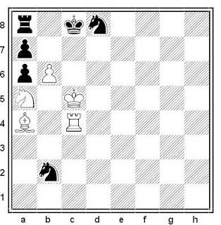 Estudio artístico de ajedrez compuesto por A. Botokanov (2º Premio, Moscú-850, 1997)