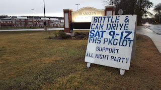 bottle can drive 9:00 to noon 3/12/16