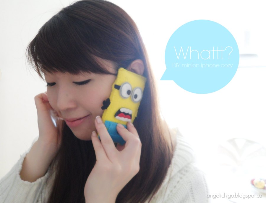{DIY} Despicable Me Minion Iphone Cozy