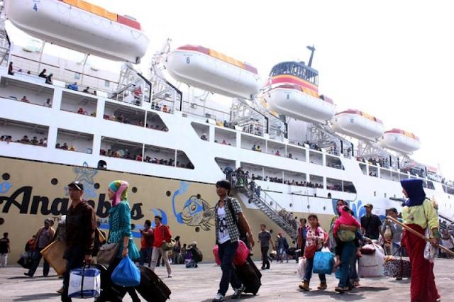 umlah pemudik yang menggunakan moda transportasi laut akan mengalami kenaikan sekitar 3%