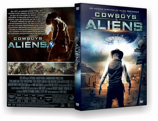 DVD-R COWBOYS & ALIENS – OFICIAL – BAÚ DO JF HD