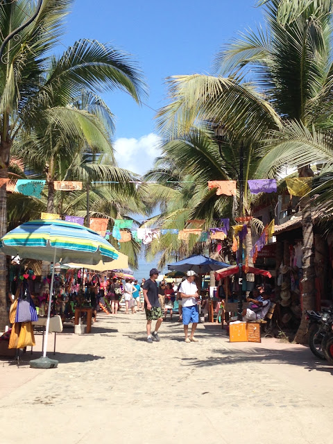 streets of Sayulita Mexico