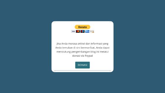 Modifikasi Kotak Berlangganan VioMagz Jadi Kotak Donasi Paypal