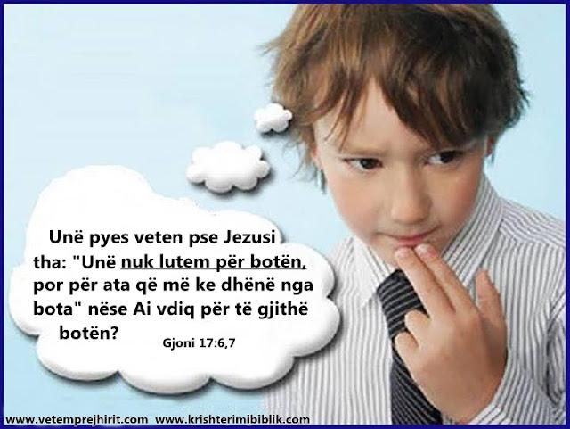Jezusi, Gjoni, lutja, bota,