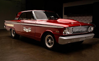 1963 Ford Fairlane 500 Thunderbolt Burgundy Color Re-Modified Front