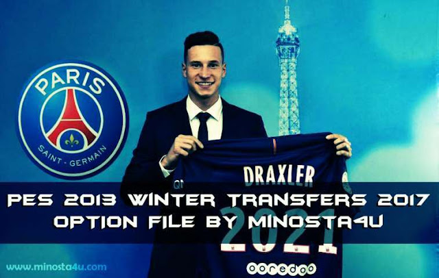 PES 2013 Option File 2017 Update Winter Transfers