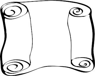 tyhjä papyrus käärö