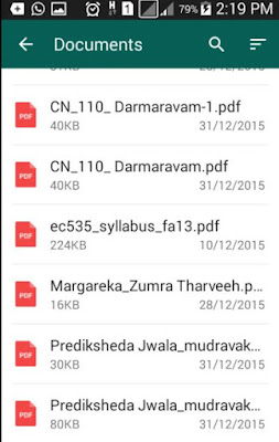 Documents on our phone for whatsapp uploading