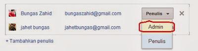 Blog ini memiliki dua admin