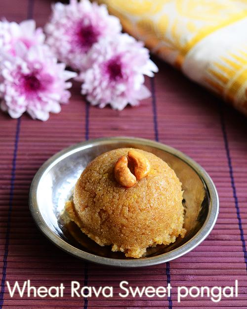 Godhuma rava sweet pongal