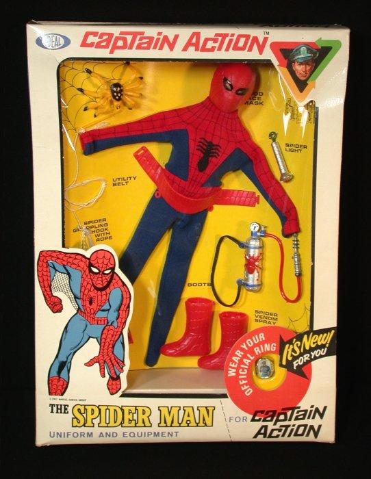 SPIDERMAN Web Cape custom Captain Action 1966 Batman 16 action figure