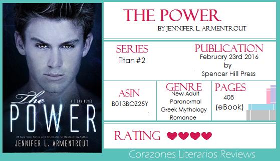 #BookReview: The Power (Titans 2) by Jennifer L. Armentrout (@JLArmentrout)