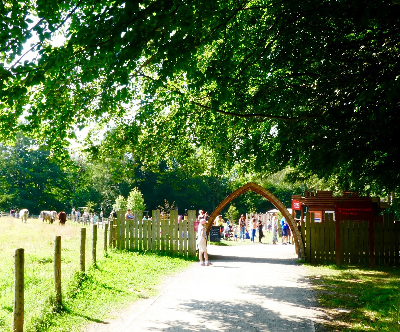 Gibside - A North East National Trust Property that's ideal for Picnics, Adventure Playground fun and beautiful gardens - entrance to Strawberry Castle play area