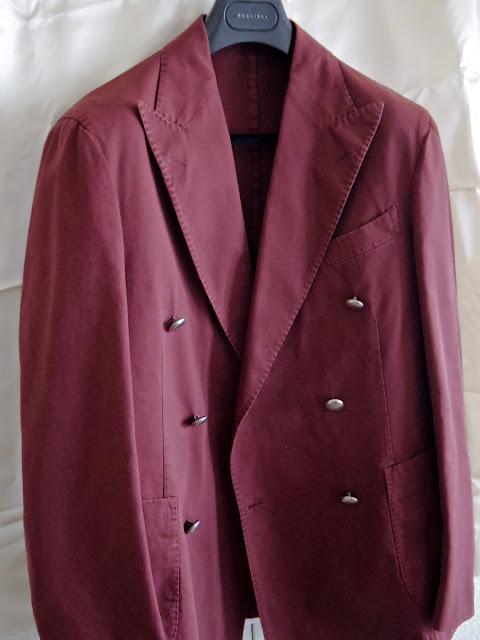 ボリオリのダブルブレスト テーラードジャケット