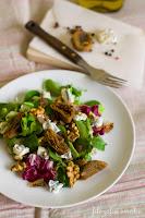 (Sałatka z gorgonzolą i figami