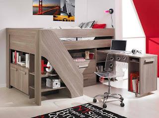 habitacion juvenil con escritorio