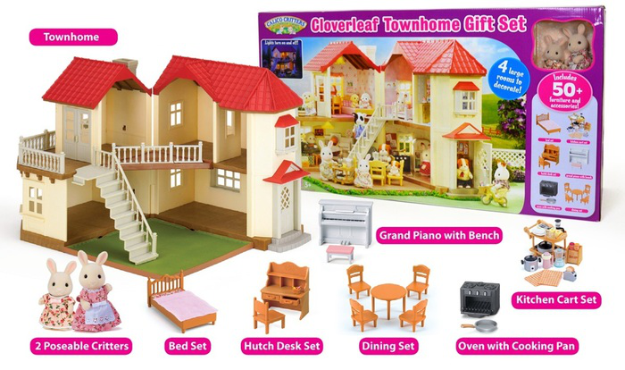 calico critters cloverleaf townhome