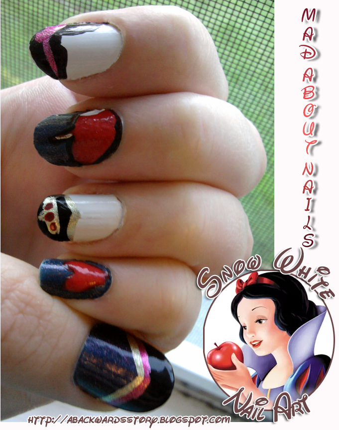 Mad About Nails Snow White Nail Art