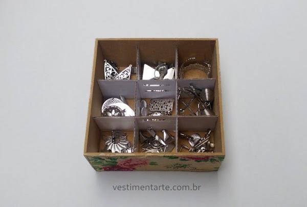 Caixa Bijuterias Organização Reaproveitamento