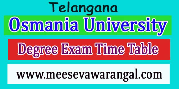 Osmania University Masters Degree in Ploce Mgnt 1st - 2nd Sem Sep 2018 Exam Time Table