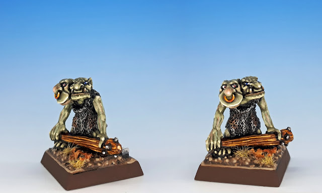 Twins, Citadel C27 Chaos Goblin Mutant, sculpted by the Perry Bros, 1984