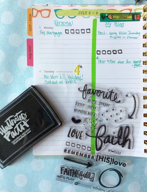 Decorate your Illustrated Faith planner with the Bible Journaling supplies you already have on hand!