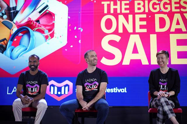 Pelancaran Lazada 11.11 Shopping Festival Secara Langsung di TV