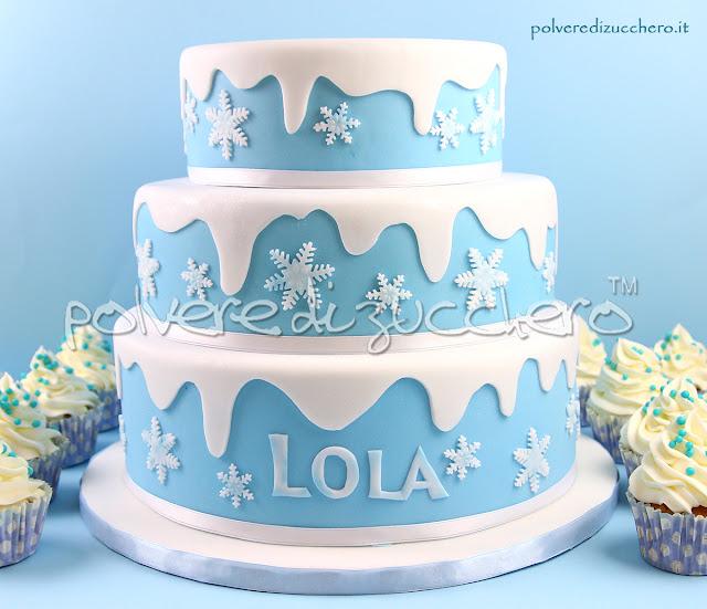 frozen elsa disney cake design pasta di zucchero polvere di zucchero torte a piani