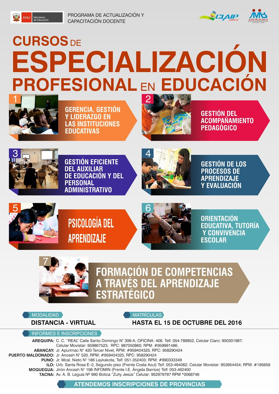 Diplomados para los docentes de arequipa noticias m s for Curso concurso docente 2016
