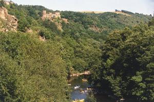 canoé sur la rivière sioule