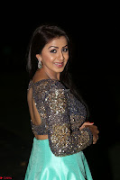 Nikki Galrani in Green Skirt  Top at Marakathamani music launch ~  Exclusive (117).JPG