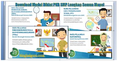 Download Modul Diklat PKB SMP Lengkap Semua Mapel