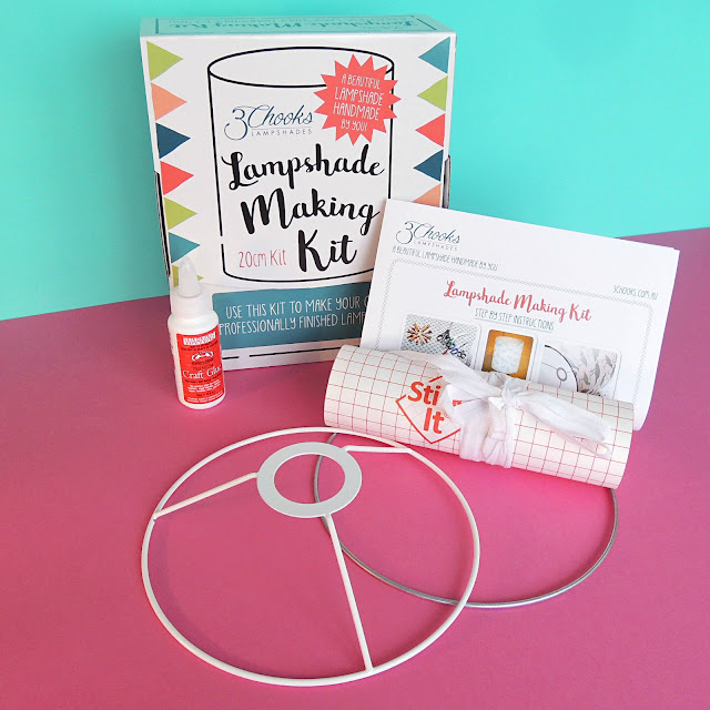 3Chooks Lampshade Making Kit, packaging and contents