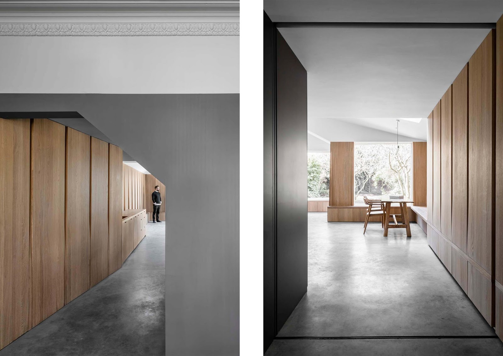 Mattoni a contrasto ed interni in cemento e legno arc for Interni e design