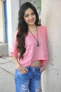 Actress Poonam Kaur Stills in Ripped Jeans at Attack Movie Audio Launch  0007
