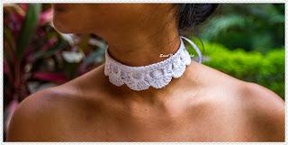 crochet jewellery, crochet neckwear