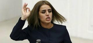 HDP'li Ayşe Acar Başaran'dan TBMM'de rezalet yemin!