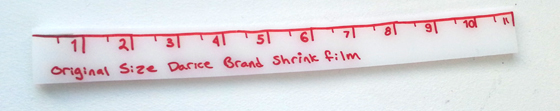how to measure shrink film paper