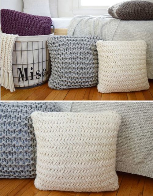 Chunky Throw Pillow Set - Free Pattern
