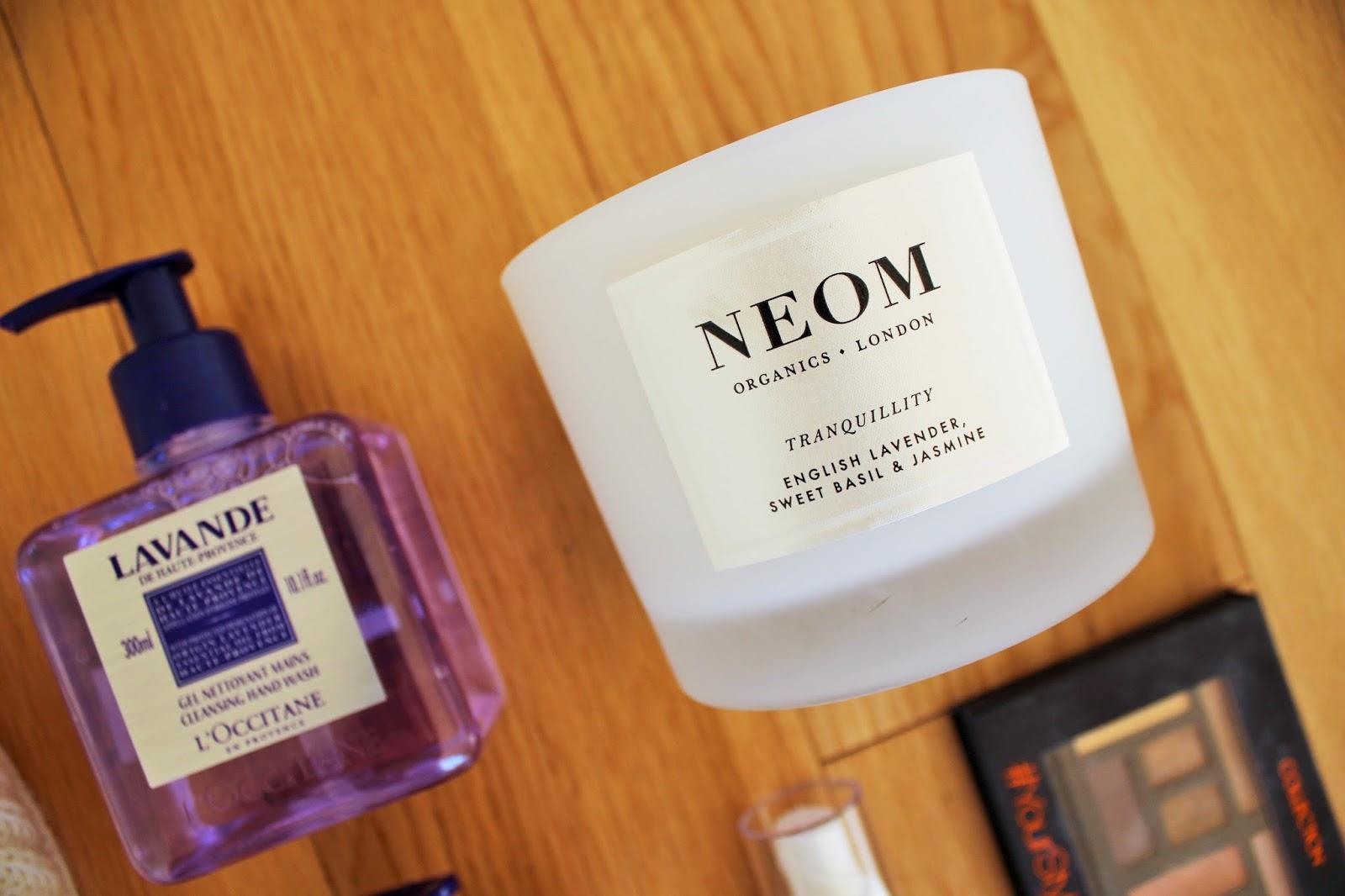 February Favourites - Neom Organics 3 Wick Candle in English Lavender, Sweet Basil and Jasmine