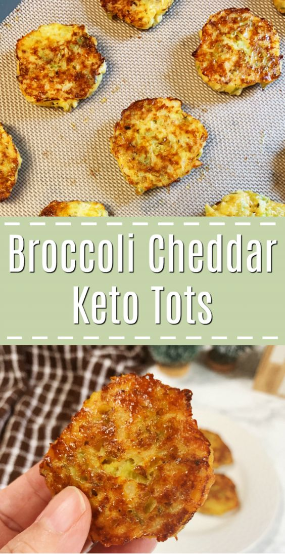 KETO/LOW CARB-BROCCOLI AND CHEDDAR TOTS
